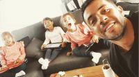 Matías Defederico y sus hijas. Fuente (Instagram)