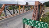 Imagen puente río Vaqueros. Fuente: (Twitter)