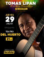 Tomás Lipán se presentará en Salta con un concierto único