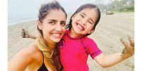 Michelle Renaud compartió fotos inéditas de sus vacaciones junto a su hijo